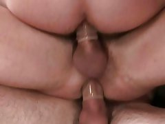 Gay studs try out double penetration