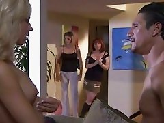 Filthy bitches Kylie Ireland and Roxanne Hall provoke prick for its creamy conte