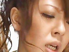 Busty asian milf Hitomi Tanaka fucked in threesome