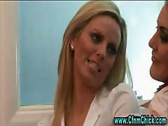 Cfnm group femdom office girls blowjob