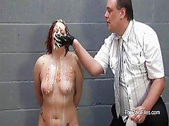 Bizarre female humiliation and messy destruction