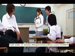 Akiho Yoshizawa innocent asian teacher does blowjob