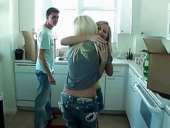 Two teen couples fuck