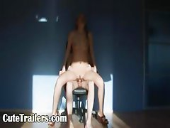 Sex and great blowjob on the black chair