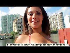 Jynx Maze stunning brunette teen latina girlfriend with big ass anal masturbating
