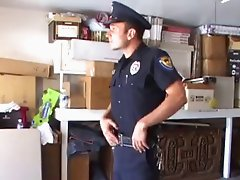 Cop fucks in the garage