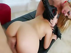 horny hairy anal threesome