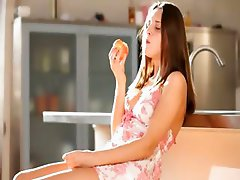 Teen wow pornstar teasing in a kitchen