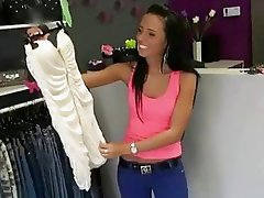 Slim sweetie fucked in the dress shop