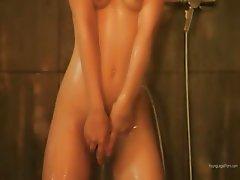 Blondie princess showering pussy vagina