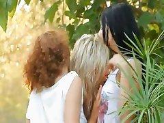 trio lesbians with trio vibrators