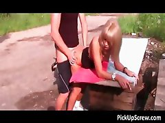 Attractive blond pickup bitch gives part3