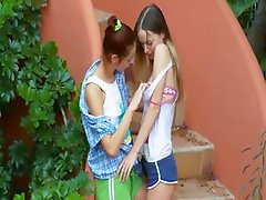 Romantic lesbo adventure from italia