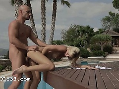 Vacation fantasy with beautiful blondie