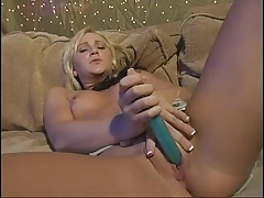 Papa - Blond  Fucks her Vibrator