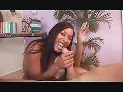 Hot Ebony Handjob And Smoking Fetish 3 FG09