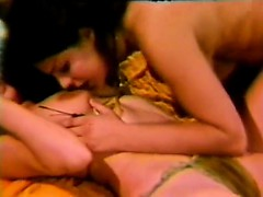 two retro lesbians with big toy