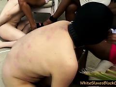 Femdom ebony ladies and white slaves