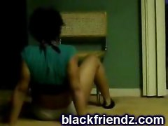 Ebony black ghetto  teen booty grind
