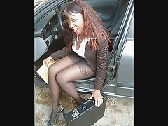 Ebony Legs in Pantyhose Part3