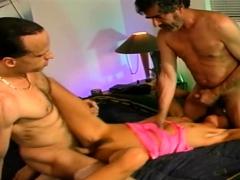 Rough 3some For Swinger Slut
