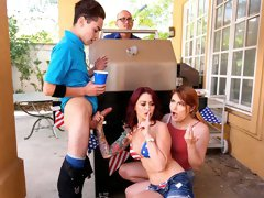 Awesome 4th Of July Threesome
