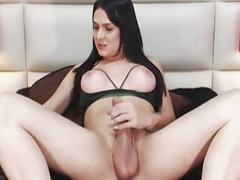 Horny Shemale Tempts You with Her Huge Cock