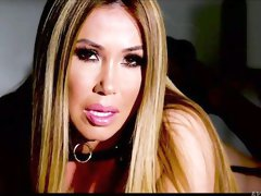 Glamorous Asian chick Kianna Dior gets her holes fucked in the night