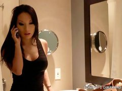 Asian sex doll with big boobs Asa Akira fucked by a long dick