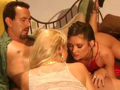Classic vintage FFM sex with two models Stephanie Swift and Missy