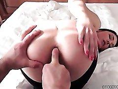 POV cocksucker wants boner in her asshole