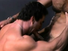 Tim and Oliver get hard in a workshop