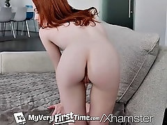 myvertfirsttime first time fuck in hd for pale ginger pussy