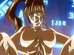 Futanari cartoon shemale with big tits pussy drills a hottie