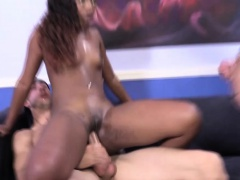 Nubian babe gets dped