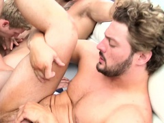 Assfucked gay jock on a boat with his friends