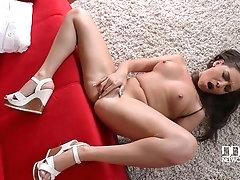 College Girl Plays With Her Petals, Fingering Herself