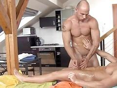 Twink is engulfing homosexual studs hungry cock