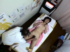 Sweet Oriental babes getting pleased on the massage table