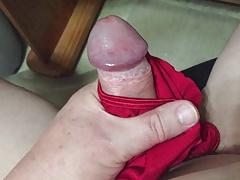 Cumming on wife's worn panties