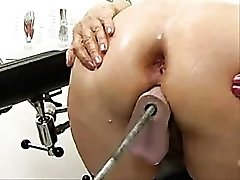 Fucking machine doing the granny whore