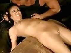 Master pumps slaves little tits and punishes her hard BDSM