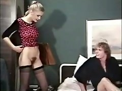 Tall Vintage Cutie Shows Her Tempting Hairy Pussy!