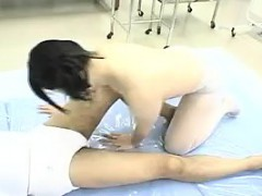 Sultry Asian babe gives a sensual massage and gets rid of h