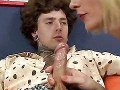 Ladyboy gives a blowjob before some deep anal drilling