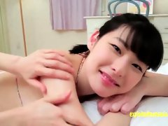 Yuzuna  is making her first porn video