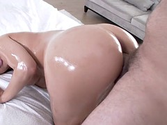 oiled big ass slut dillion harper took deep doggy style reaming