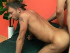 Lustful boy loves to get his fiery ass drilled bareback and creampied