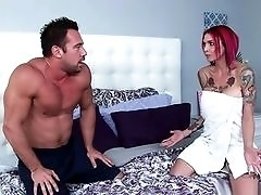 Tattooed Redhead gets Dirty After her Shower