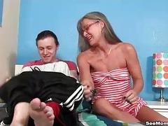 Milf Empties Stepsons Balls Sucking His Thick C